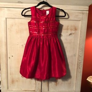 Girls Holly Red Sequin Dress by Gymboree